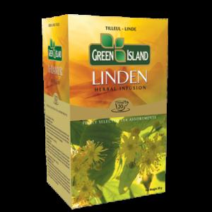 Чай Green Island Липов билков чай кутия 20 бр